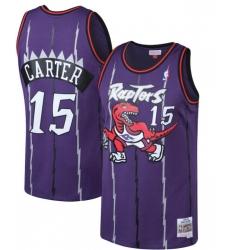 Men's Toronto Raptors Vince Carter Mitchell & Ness Purple Big & Tall Hardwood Classics Jersey