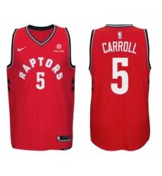 Nike NBA Toronto Raptors 5 DeMarre Carroll Jersey 2017 18 New Season Red Jersey