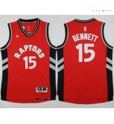 Raptors 15 Anthony Bennett Red Stitched NBA Jersey