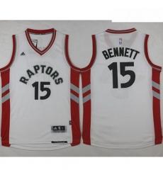 Raptors 15 Anthony Bennett White Stitched NBA Jersey