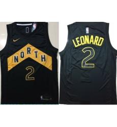 Raptors 2 Kawhi Leonard Black City Edition Nike Swingman Jersey