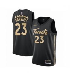 Raptors 23 Fred VanVleet Black Basketball Swingman City Edition 2019 20 Jersey