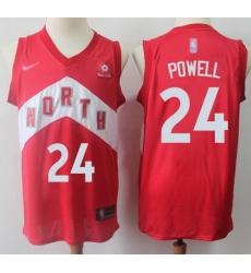 Raptors  2324 Norman Powell Red Basketball Swingman Earned Edition Jersey