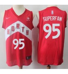 Raptors  2395 Superfan Red Basketball Swingman Earned Edition Jersey