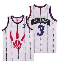 Raptors 3 Chauncey Billups White Throwback Jerseys