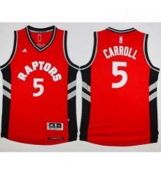 Raptors 5 DeMarre Carroll Red Stitched NBA Jersey