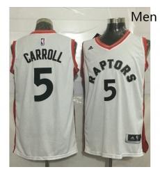 Raptors 5 DeMarre Carroll White Stitched NBA Jersey
