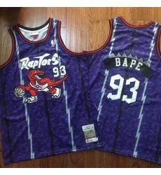 Raptors 93 Bape Purple 1998 99 Hardwood Classics Jersey