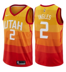 Jazz  2 Joe Ingles Orange Basketball Swingman City Edition 2019 20 Jersey
