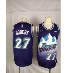 Jazz 27 Rudy Gobert Purple Nike Swingman Jersey