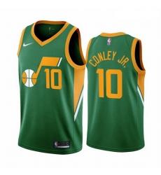 Men Utah Jazz 10 Mike Conley Green NBA Swingman 2020 21 Earned Edition Jersey