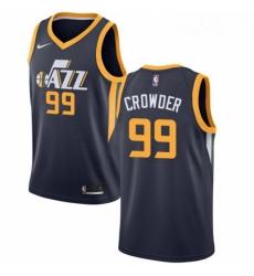 Mens Nike Utah Jazz 99 Jae Crowder Swingman Navy Blue Road NBA Jersey Icon Edition