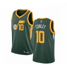 Mens Utah Jazz 10 Mike Conley Green Swingman Jersey Earned Edition