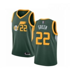 Mens Utah Jazz 22 Jeff Green Swingman Jersey Earned Edition