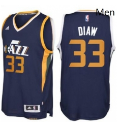 Mens Utah Jazz 33 Boris Diaw adidas Navy Blue New Swingman Road Jersey