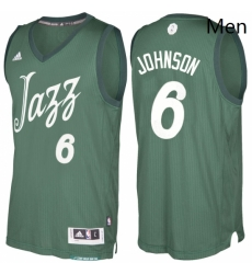 Mens Utah Jazz 6 Joe Johnson Green 2016 2017 Christmas Day NBA Swingman Jersey