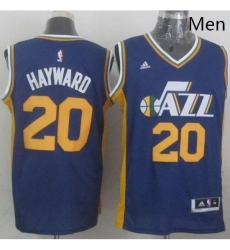 Revolution 30 Jazz 20 Gordon Hayward Navy Blue Stitched NBA Jersey