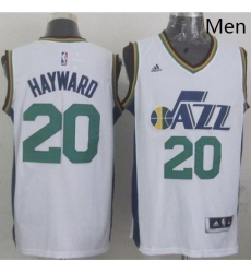 Revolution 30 Jazz 20 Gordon Hayward White Stitched NBA Jersey