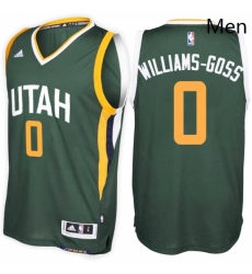 Utah Jazz 0 Nigel Williams Goss Alternate Green New Swingman Stitched NBA Jersey