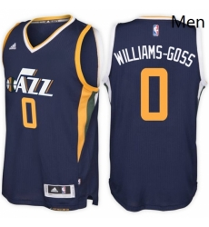 Utah Jazz 0 Nigel Williams Goss Road Navy New Swingman Stitched NBA Jersey