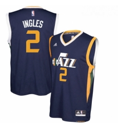Utah Jazz 2 Joe Ingles Navy Blue New Swingman Road Jerse
