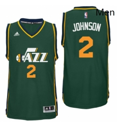 Utah Jazz 2 Joe Johnson Alternate Green New Swingman Jersey