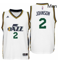 Utah Jazz 2 Joe Johnson Home White New Swingman Jersey