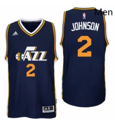 Utah Jazz 2 Joe Johnson Road Navy New Swingman Jersey