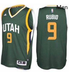 Utah Jazz 9 Ricky Rubio Alternate Green New Swingman Stitched NBA Jersey