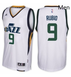 Utah Jazz 9 Ricky Rubio Home White New Swingman Stitched NBA Jersey