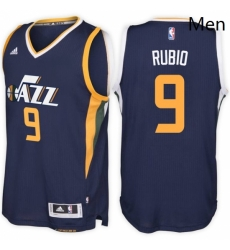 Utah Jazz 9 Ricky Rubio Road Navy New Swingman Stitched NBA Jersey