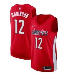 Men Nike Washington Wizards 12 Jerome Robinson Red NBA Swingman Earned Edition Jersey