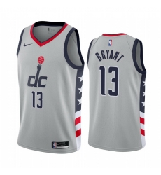 Men Nike Washington Wizards 13 Thomas Bryant Gray NBA Swingman 2020 21 City Edition Jersey