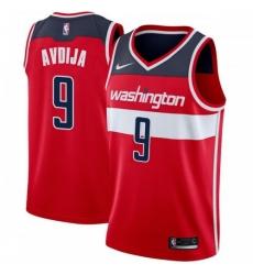 Men Nike Washington Wizards 9 Deni Avdija Red NBA Swingman Icon Edition Jersey