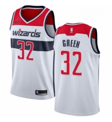 Mens Nike Washington Wizards 32 Jeff Green Swingman White NBA Jersey Association Edition