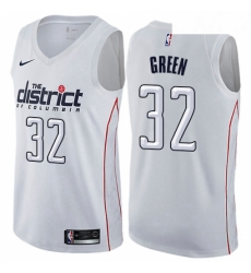 Mens Nike Washington Wizards 32 Jeff Green Swingman White NBA Jersey City Edition