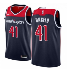 Mens Nike Washington Wizards 41 Wes Unseld Authentic Navy Blue NBA Jersey Statement Edition