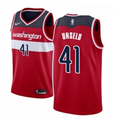 Mens Nike Washington Wizards 41 Wes Unseld Swingman Red Road NBA Jersey Icon Edition