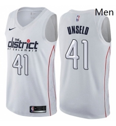 Mens Nike Washington Wizards 41 Wes Unseld Swingman White NBA Jersey City Edition
