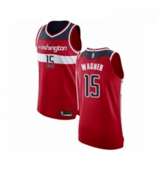 Mens Washington Wizards 15 Moritz Wagner Authentic Red Basketball Jersey Icon Edition