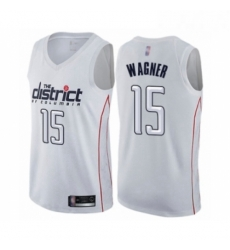 Mens Washington Wizards 15 Moritz Wagner Authentic White Basketball Jersey City Edition