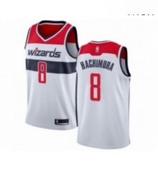 Mens Washington Wizards 8 Rui Hachimura Authentic White Basketball Jersey Association Edition