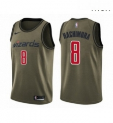 Mens Washington Wizards 8 Rui Hachimura Swingman Green Salute to Service Basketball Jersey