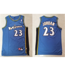 Wizards 23 Michael Jordan Blue Nike Swingman Jersey