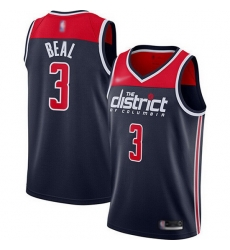 Wizards  3 Bradley Beal Navy Blue Basketball Swingman Statement Edition 2019 2020 Jersey