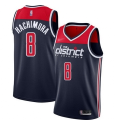 Wizards  8 Rui Hachimura Navy Blue Basketball Swingman Statement Edition 2019 2020 Jersey