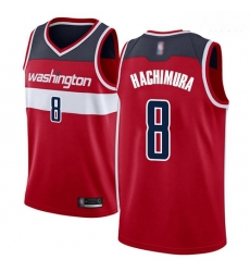 Wizards #8 Rui Hachimura Red Basketball Swingman Icon Edition Jersey