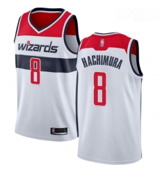 Wizards #8 Rui Hachimura White Basketball Swingman Association Edition Jersey