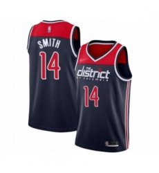 Women Washington Wizards Ish Smith Swingman Navy Blue Finished Basketball Jersey Statement Edition