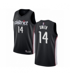 Youth Washington Wizards Ish Smith Swingman Black Basketball Jersey City Edition
